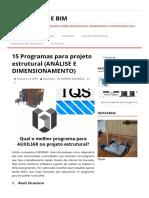 15 Programas Para Projeto Estrutural (ANÁLISE E DIMENSIONAMENTO) - Estruturas e BIM