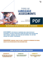 Types of Language Assessments