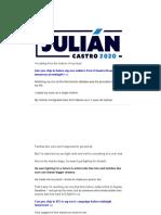 Julian Castro - I'm So Proud of My Son