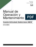 Manual Mantenimiento , Operacion AD30 01