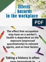 Effects of Hazards in the Kitchen