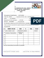 Acta Orga. Consejo Educativo u.e. Alto Sajama 2018
