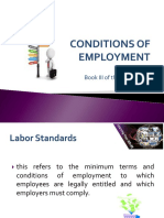 Conditions and Employment