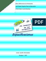 HTML Especificaciones