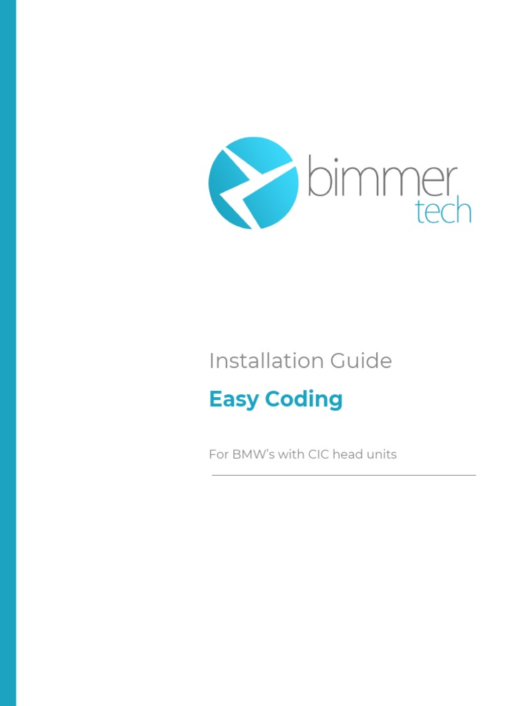 Easy Coding Installation Guide for CIC head unit BMW's pdf