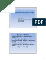 Chlorine Residuals Measurement