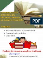 Communicative Activities Textbooks