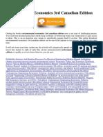 Environmental Economics 3rd Canadian Edition
