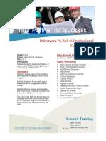 Primavera P6 Pro v16 Fundamentals