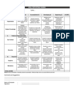 Oral Reporting Rubric
