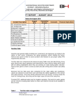 Monthly Safety Report August 2014