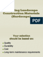 Landscape Material Selection