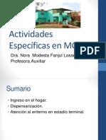 Actividades especificas enMGI