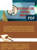 Sociedad de capital variable Legislación Empresarial