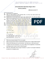 2013 Physics Question Paper