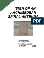 Design of an Archimedean Spiral Antenna