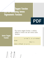 Inverse Tangent and Other Inverse Functions