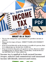 Maths Ppt Income Tax-Diya Shah