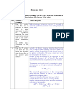Final Response Sheet