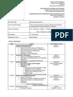 PR1-ICT Course Syllabus