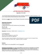 DoNC Fall Membership Meeting and NC Pack Growl