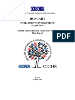 ODIHR final report on Hungary's parliamentary elections