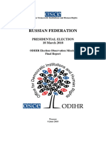 ODIHR final report on Russia's presidential election