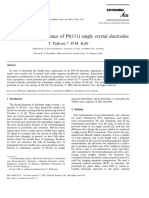 Double Layer Capacitance of Pt(111) Single Crystal Electrodes (for EIS)
