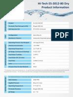 Hi Tech ES 2012 80 Dry Specification