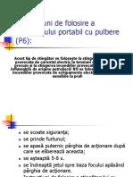 Instructiuni de Folosire a Stingatorului Portabil Cu Pulbere