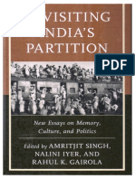 Revisiting India's Partition (Mention about Testimonial therapy of PVCHR and Dignity