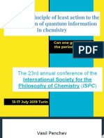 From the principle of least action to the conservation of quantum information in chemistry. Can one generalize the periodic table?