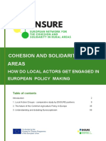 Cohesion and Solidarity in Local Areas 2019 - European Project ENSURE