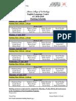 Marking Schedule Semester 3