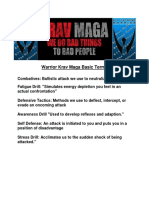 Warrior Krav Maga Levels 1-3 Testing Info & Grading Sheet