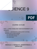 Science 9 Course Outline & Requirements