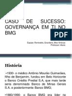 Apresentação Caso de Sucesso de Governança Em TI No BMG