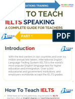 Part 1 - How to Teach IELTS Speaking