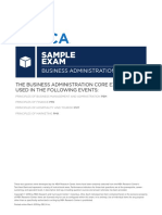 HS Business Administration Core Sample Exam