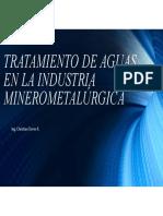 SESION 4 - Tratamiento de Aguas en La Industria Minerometalúrgica