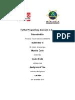 C++ Assignment Document (APIIT)