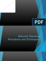 Network Connectivity Checking Procedures and Techniques