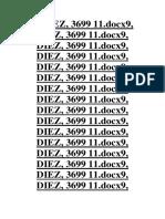9, DIEZ, 3699 11