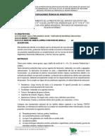 Especificaciones Tecnicas Arquitectura Ayaviri