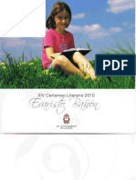 "XIV Certamen Literario ""Evaristo Bañón"" Caudete 2010"