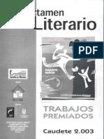 "VII Certamen Literario ""Evaristo Bañón"" Caudete 2003"
