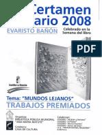 "XII Certamen Literario ""Evaristo Bañón"" Caudete 2008"