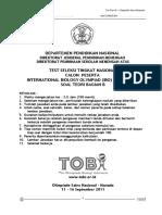 OSN Biologi 2011 - Tes Teori, Bagian B - Soal