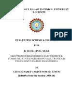 B.tech. 4th Year ECE CBCS 2019-20