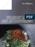 Anthropology and Culinary Art